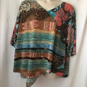 Maggie Barnes blouse multi color size 3x